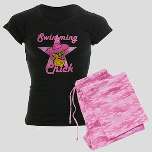 Swimming Chick #8 Women's Dark Pajamas