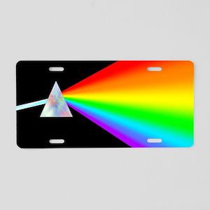 Rainbow Prism Aluminum License Plate