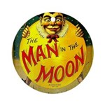 Man in The Moon Game Advertising Print Round Ornam