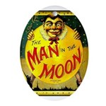 Man in The Moon Game Advertising Print Oval Orname
