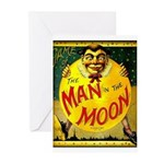 Man in The Moon Game Advertising Print Greeting Ca