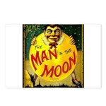 Man in The Moon Game Advertising Print Postcards (