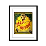 Man in The Moon Game Advertising Print Framed Pane
