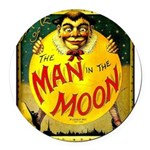 Man in The Moon Game Advertising Print Round Car M