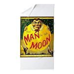 Man in The Moon Game Advertising Print Beach Towel