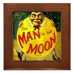 Man in The Moon Game Advertising Print Framed Tile
