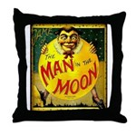 Man in The Moon Game Advertising Print Throw Pillo