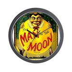 Man in The Moon Game Advertising Print Wall Clock