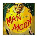 Man in The Moon Game Advertising Print Tile Coaste