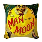 Man in The Moon Game Advertising Print Woven Throw