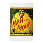 Man in The Moon Game Advertising Print Area Rug