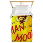 Man in The Moon Game Advertising Print Twin Duvet