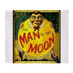Man in The Moon Game Advertising Print Throw Blank