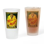 Man in The Moon Game Advertising Print Drinking Gl