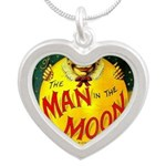 Man in The Moon Game Advertising Print Necklaces