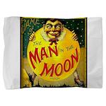 Man in The Moon Game Advertising Print Pillow Sham