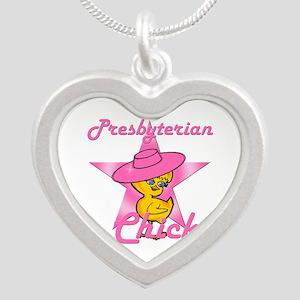 Presbyterian Chick #8 Silver Heart Necklace