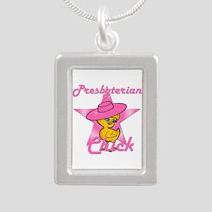 Presbyterian Chick #8 Silver Portrait Necklace