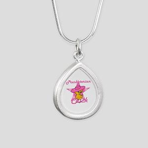 Presbyterian Chick #8 Silver Teardrop Necklace