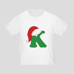 Christmas Letter K Alphabe T-Shirt