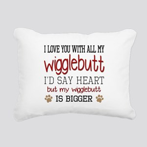 I Love You With All My W Rectangular Canvas Pillow