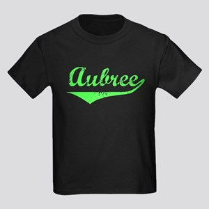 Aubree Vintage (Lt Gr) Kids Dark T-Shirt