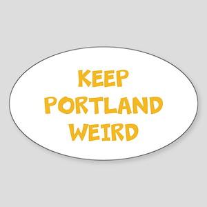 Keep Portland Weird Sticker (Oval)