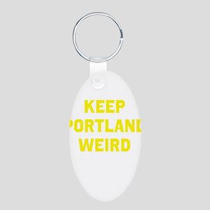 Keep Portland Weird Aluminum Oval Keychain