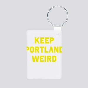 Keep Portland Weird Aluminum Photo Keychain