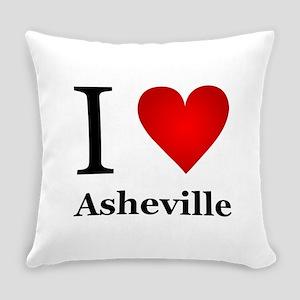 I Love Asheville Everyday Pillow