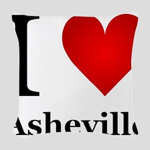 I Love Asheville Woven Throw Pillow