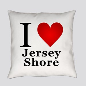 I Love Jersey Shore Everyday Pillow