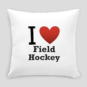i-love-field-Hockey-light-tee Everyday Pillow