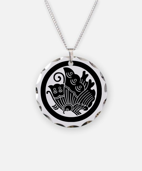 Ageha butterfly in circle Necklace