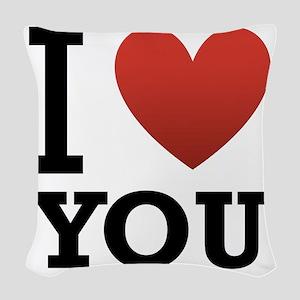 i-love-you-2 Woven Throw Pillow