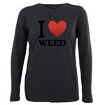 i-love-weed Plus Size Long Sleeve Tee