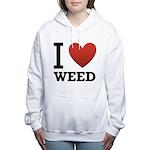 i-love-weed Women's Hooded Sweatshirt