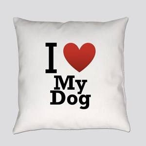 i-love-my-dog Everyday Pillow