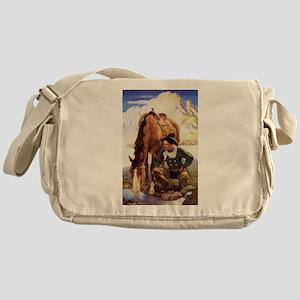 Vintage Cowboy by NC Wyeth Messenger Bag
