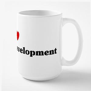 I Love Economic development Mugs