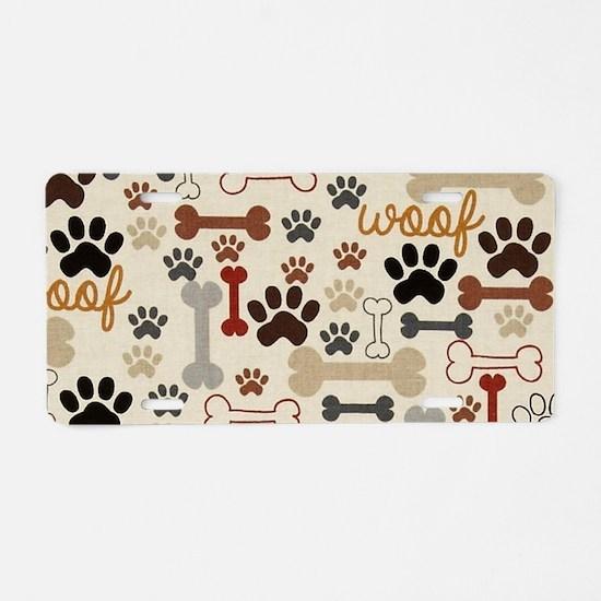 Cute Dog Aluminum License Plate