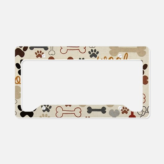 Funny Paw License Plate Holder