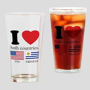 USA-URUGUAY Drinking Glass