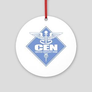 Certified Emergency Nurse Round Ornament