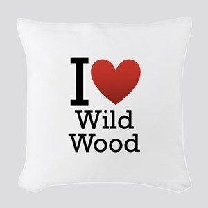 wildwood rectangle Woven Throw Pillow