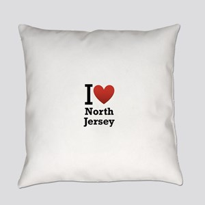 i love north jersey Everyday Pillow