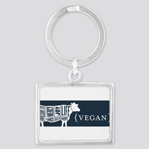 Words to Lie By Cow, Navy Keychains