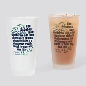 Progress Roosevelt Quote Drinking Glass