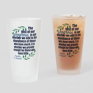 Progress Roosevelt Quote Drinking Glass