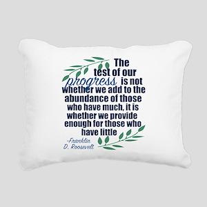 Progress Roosevelt Quote Rectangular Canvas Pillow